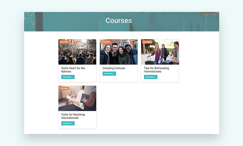 Content That Is Organized - Courses Page Screen Capture